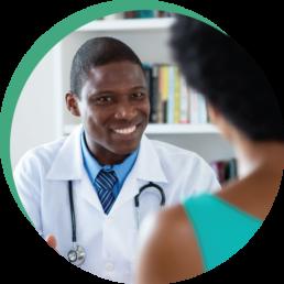Black Doctor Patient Stock Image